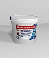 SeptEx Chlorine 3 in 1 Complex 200 - комплексный препарат 3 в 1 для длительной дезинфекции, 5 кг , фото 1