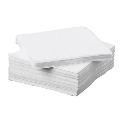 Набор бумажных салфеток IKEA FANTASTISK 50 шт 24x24 см белые 101.012.73