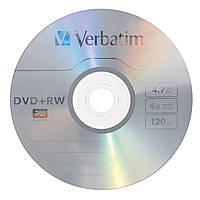Диск DVD+RW Verbatim 4.7GB 4x, Cake 10