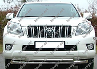 Защитная дуга по бамперуToyota Land Cruiser Prado 150 двойная