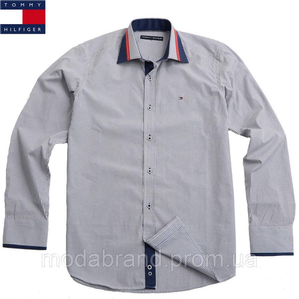 Стильная мужская рубашка в тонкую полоску Tommy Hilfiger  продажа ... 25f930b3269