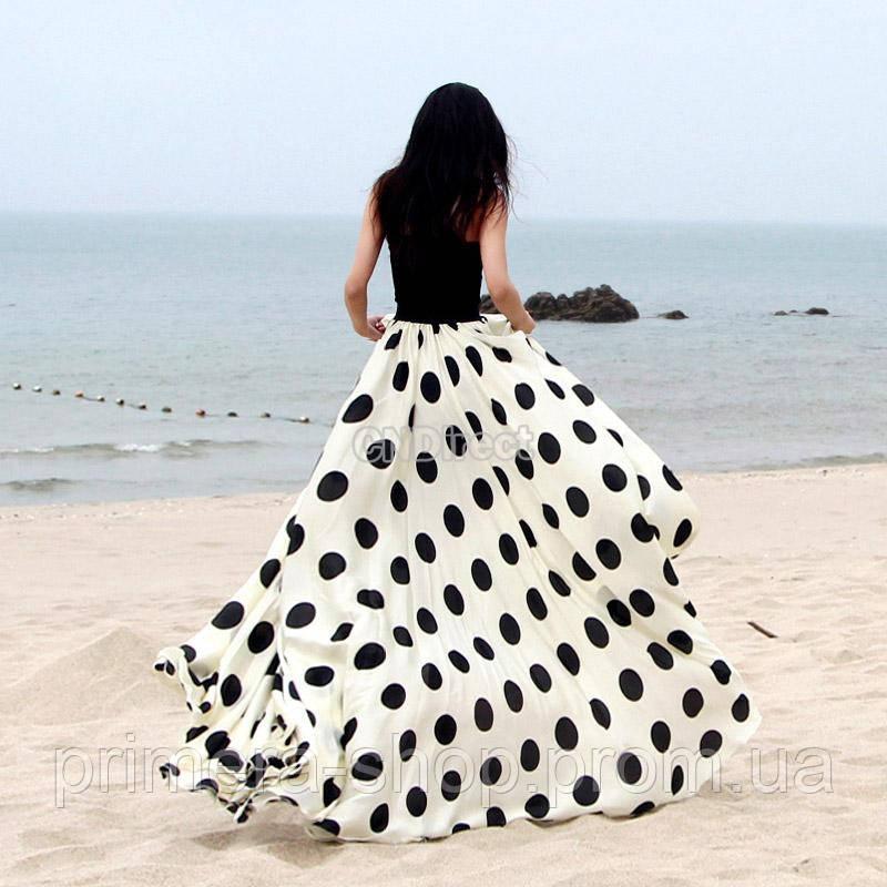 ae4eada95df Женская юбка макси в горох  продажа