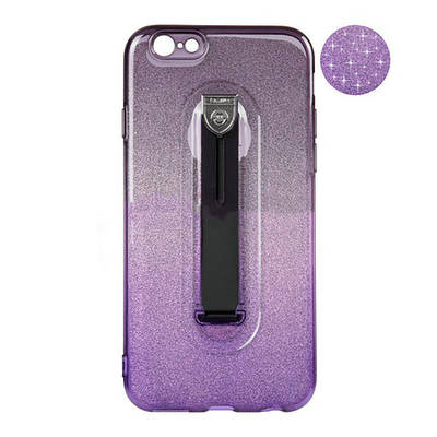 Чехол накладка для iPhone 5/5s/se Remax Glitter Hold Series Black/Violet