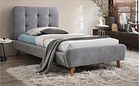 Однаспальні ліжка з мякою оббивкою