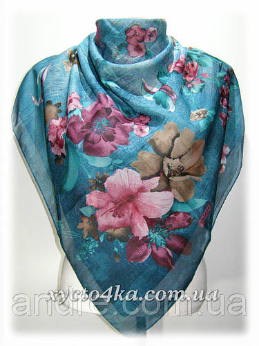 Натуральный платок Марлен, бирюза