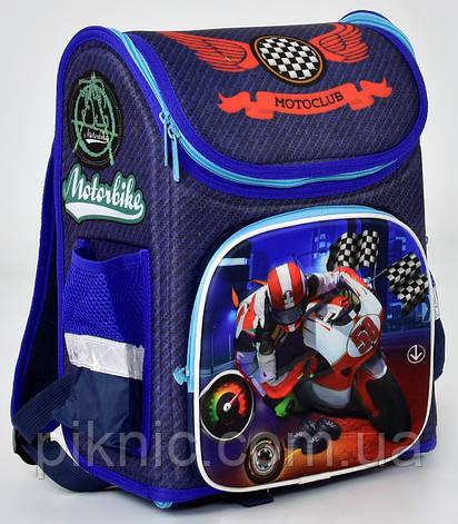 Ранец школьный каркасный ортопедический Мотобайк 1, 2, 3 класс. Для мальчиков. Рюкзак, портфель школа, фото 2