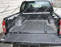 Ковер в багажник Nissan Navara (корыто), крепеж под борт