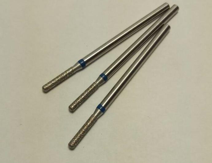 Фреза ЦИЛІНДР ЗАКРУГЛЕНИЙ 1.8 мм з синьою смужкою. ОПТ І РОЗДРІБ!