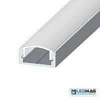 Комплект профиль+крышка для LED ленты накладной LP-7 ЭКО не анодированный, фото 1