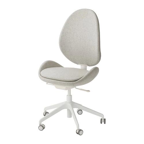 Вращающееся легкое кресло IKEA HATTEFJÄLL Gunnared бежевое белое 003.086.84