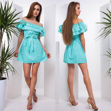 Летнее платье мини из хлопка тв-180508-3, фото 2