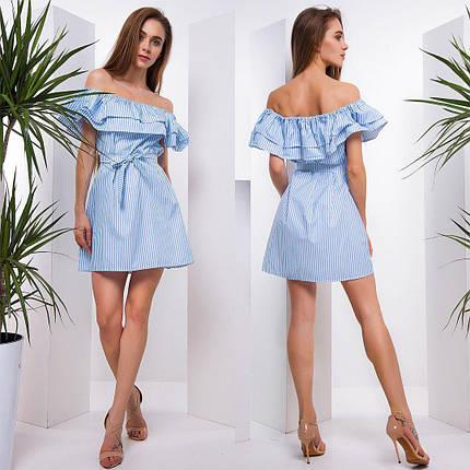 Летнее платье мини из хлопка тв-180508-4, фото 2