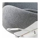 Вращающееся легкое кресло IKEA HATTEFJÄLL Gunnared серое белое 103.413.34, фото 2
