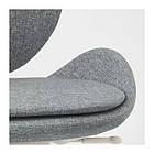Вращающееся легкое кресло IKEA HATTEFJÄLL Gunnared серое белое 103.413.34, фото 5