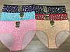 Батальные Женские трусы из бамбука «Цветочный принт» 50-54 (9227)