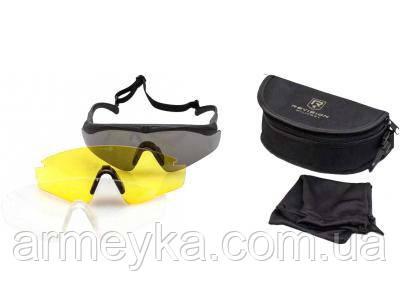 Баллистические очки Revision Sawfly 3 линзы, черная оправа. Склад. Оригинал.