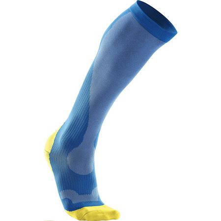 Женские компрессионные гольфы для восстановления 2XU WA2443e (голубой / желтый)