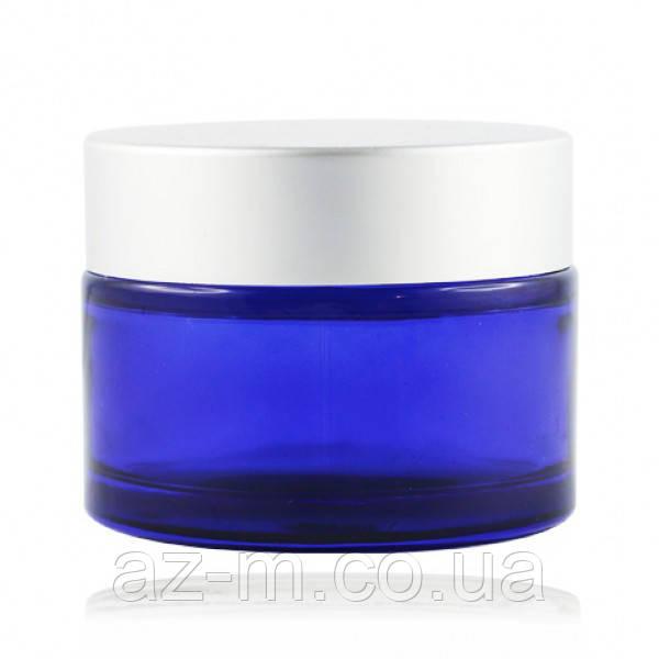 Баночка синяя (стекло) 50 мл