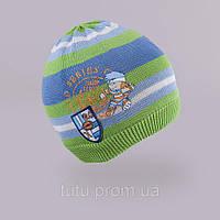 Шапка для мальчика TuTu 45. арт. 3-002501(50-54) Салатовый