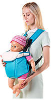 Рюкзак-кенгуру переноска для детей от 3-х месяцев Бирюза