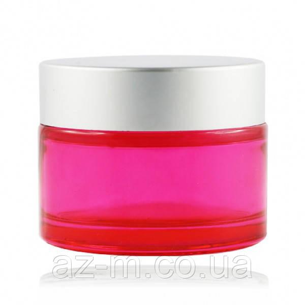 Баночка розовая (стекло) 50 мл