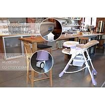 Детский стульчик для кормления CARRELLO Caramel CRL-9501/3 Mirage Grey, фото 3