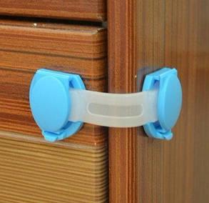 Защелка блокиратор на мебель для безопасности детей, 10см ( замки блокираторы для мебели ), фото 2