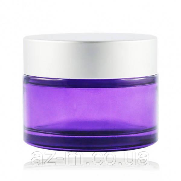 Баночка фиолетовая (стекло) 50 мл