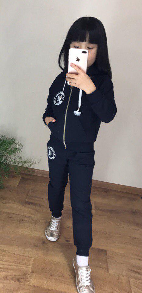 Детский стильный спортивный костюм на змейке, на рост от 110 до 140, Турция