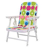Яркий бюджетный стульчик для кормления 2в1 Bambi М 0398-2 на колесиках, фото 2