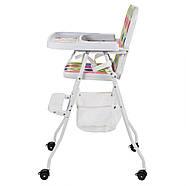 Яркий бюджетный стульчик для кормления 2в1 Bambi М 0398-2 на колесиках, фото 4