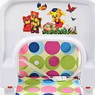Яркий бюджетный стульчик для кормления 2в1 Bambi М 0398-2 на колесиках, фото 5
