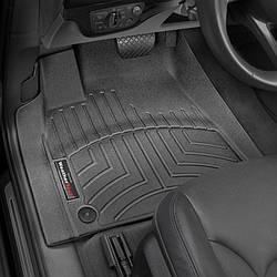 Коврики салона Weathertech  Audi Q7 2016- черные  с бортиком  , передние