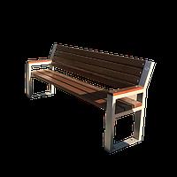 Скамья садовая, деревянная мебель для дачи Слайд со спинкой, фото 1