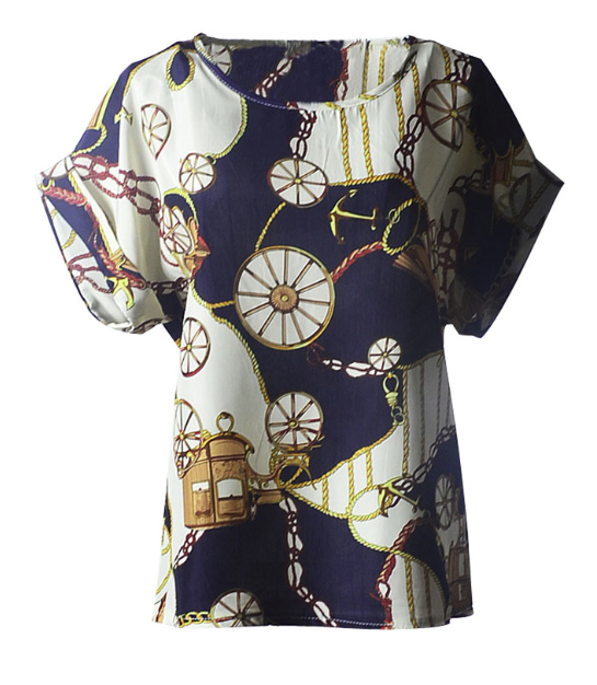 Шифоновая  блузка с коротким рукавом  Liva Girl