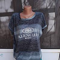 94021d85be7e Женская молодежная футболка туника больших размеров из миланжированного  хлопка