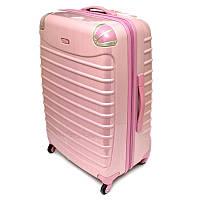 Большой розовый чемодан Tesora PC930T4