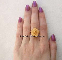 """Кольцо """"Рита""""  роза, под золото размер регулируется."""