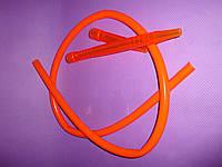 Шланг(трубка)силиконовая, акриловый мундштук - Оранжевый, фото 1