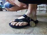 Стильные кожаные сандалии-шлёпанцы Bertoni, фото 5