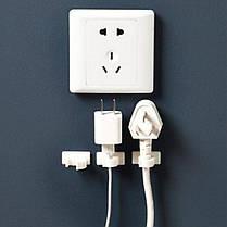Зажим на защелке, клипса - держатель проводов, шнуров, кабеля 4 шт, фото 2