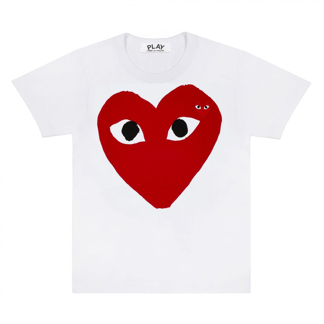 Футболка с принтом Comme des Garcons Original Heart Logo мужская | Качественная реплика