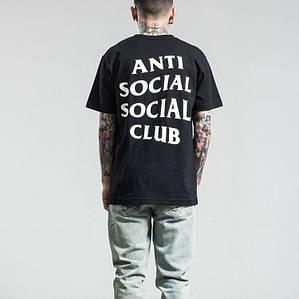 Футболка с принтом A.S.S.C. Anti Social social club мужская   Качественная реплика