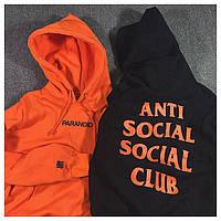 Толстовка с принтом A.S.S.C. Paranoid | Anti Social social club мужская | Качественная реплика