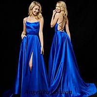 Платье с открытой спиной  материал: армани шелк