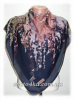 Лёгкие шифоновые платки Радуга, тёмно синий