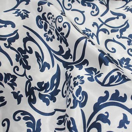 Ткань атлас стрейчевый принт абстракция S-05, фото 2