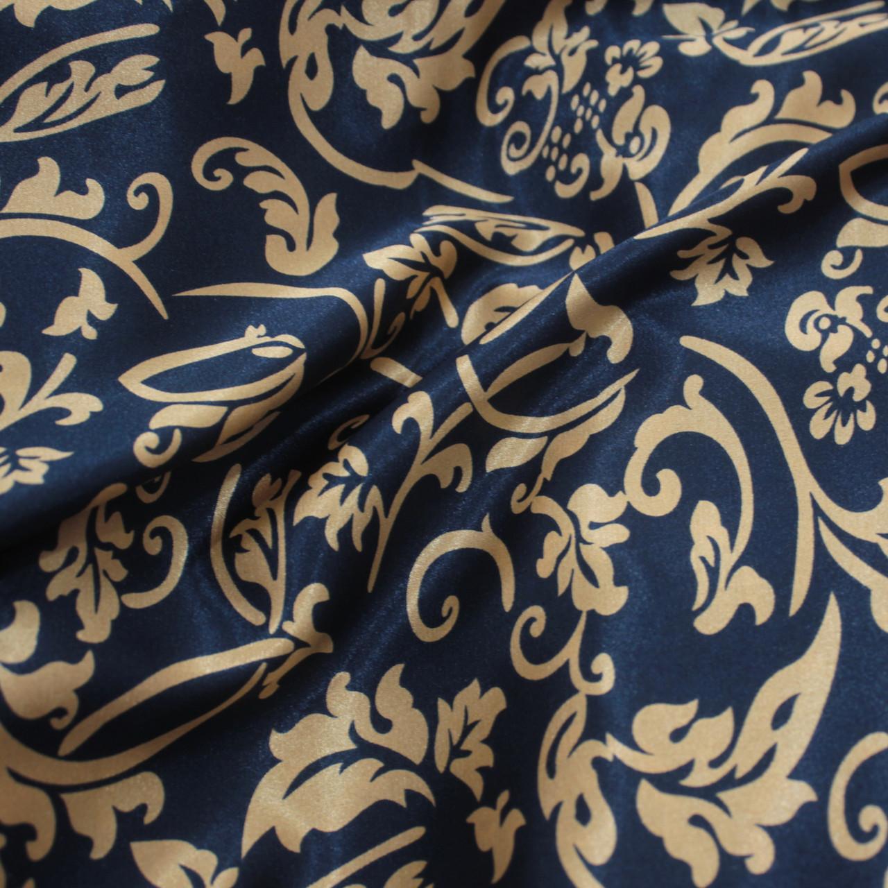 Ткань атлас стрейчевый принт абстракция S-06