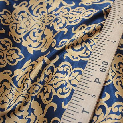 Ткань атлас стрейчевый принт абстракция S-07, фото 2