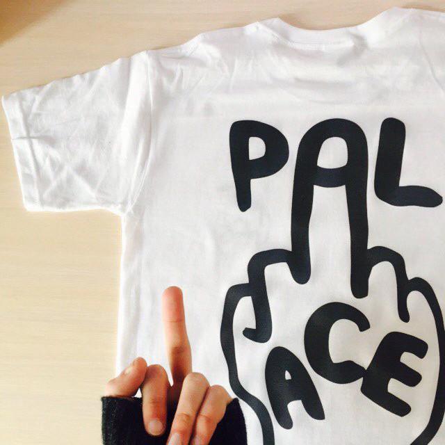 Футболка с принтом Palace finger мужская | Качественная реплика